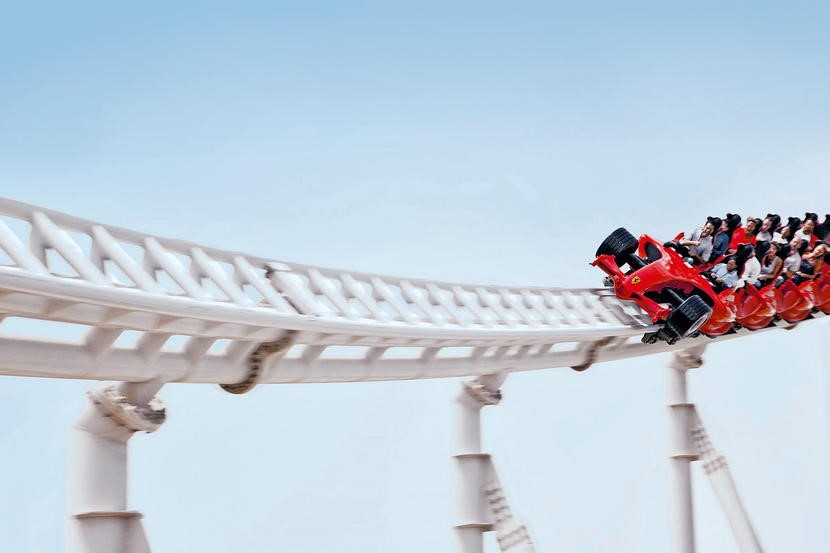 FERRARI WORLD ZOOMS AHEAD WITH FLYING ACES