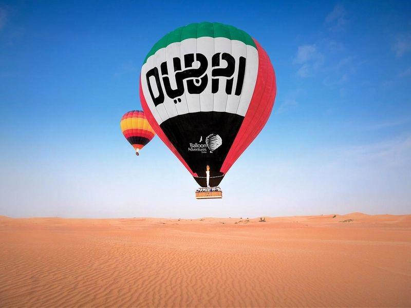 HOT AIR BALLOON SOARS HIGH IN DUBAI